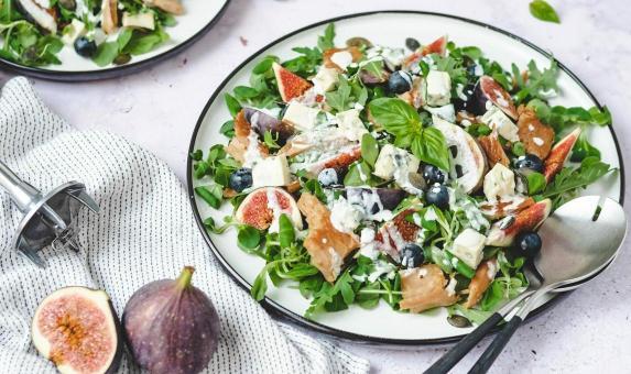 Heerlijke zomerse salade met vijgen