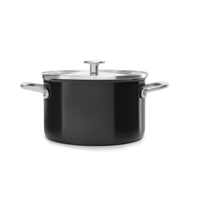 Kitchenaid Steel Core Enamel kookpan Onyx black 24cm CC003268-001
