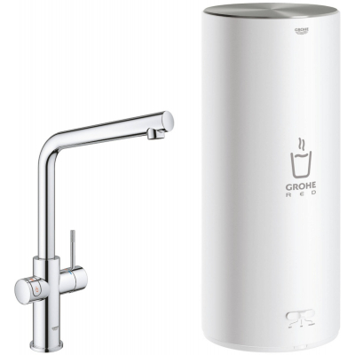 Grohe Red New Duo Keukenmengkraan met L-uitloop en Combi boiler Chroom