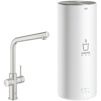 Grohe Red New Duo Keukenmengkraan met L-uitloop en Combi Boiler Supersteel